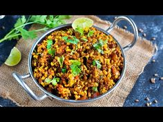 Matki Usal - Matki Chi Usal is a traditional Maharashtrian & healthy lentil preparation cooked into a dry curry (subzi) made with sprouted moth beans. Recipe Videos, Food Videos, Lentils, Fried Rice, Moth, The Creator, Curry, Beans, Traditional