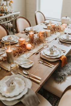 stunning diy thanksgiving centerpieces table decorations to holiday 3 Diy Thanksgiving Centerpieces, Hosting Thanksgiving, Thanksgiving Table Settings, Thanksgiving Recipes, Fall Table Settings, Happy Thanksgiving, World Market Furniture, Pumpkin Decorating, Fall Home Decor