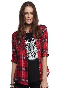 giselle cotton shirt CHA CHI CHECK
