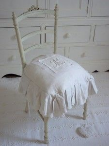 Coussin tapissier de chaise m tis lin coton linge de - Coussin tapissier 60x60 ...