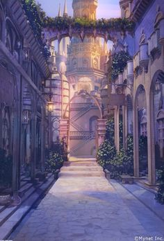 New fantasy landscape castles scenery ideas Fantasy City, Fantasy Places, Fantasy Castle, Fantasy World, Fantasy Art Landscapes, Fantasy Landscape, Fantasy Artwork, Landscape Art, Landscape Paintings