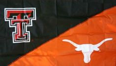 The flag my parents should have hung for me and my sister.alas we were never rivals since I graduated TTU in May 2008 and she started UT in August 2008 House Divided Flags, Texas Homes, Texas Tech, Lovers And Friends, Parents, Ship, Logos, Sleeve, Kids
