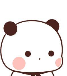 Cute Cartoon Pictures, Cute Love Cartoons, Panda Gif, Panda Bear, Panda Wallpapers, Cute Cartoon Wallpapers, Bear Gif, Simple Anime, Cute Bear Drawings
