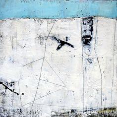 """Susan Ukkola, """"Horizon + Line"""", encaustic, mixed media"""