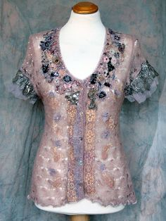 romantic delicate mohair lace top by Fleur Bonheur