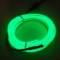 Green Led Light Strips New 2M #green Led Neon El Wire Glow Rope Tube Light Strip Car