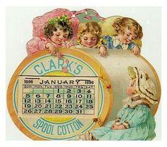 Clarks Spool Cotton 1896 Calendar