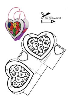 Heart pattern - Diy and Crafts Diy Gifts For Boyfriend, Gifts For Dad, Diy St Valentin, Printable Crafts, Printables, Valentine Crafts, Valentines, Art For Kids, Crafts For Kids