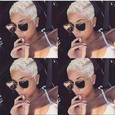 Best Short Pixie Hairstyles for Black Women 2018 – 2019 - hair - Hair Designs Pixie Hairstyles, Black Women Hairstyles, Hairstyles 2016, 27 Piece Hairstyles, 1940s Hairstyles, Casual Hairstyles, Modern Hairstyles, Pixie Haircuts, Medium Hairstyles