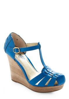 Good Intentions Wedge - Seychelles wedges again, but this time in a brilliant blue!