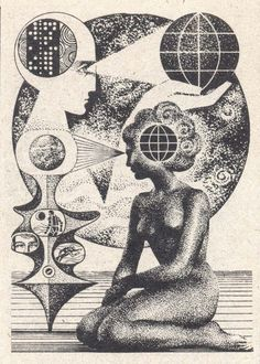 Nikolai Lutohin - a Russian artist born in Yugoslavia who did many illustrations for issues of the science magazine Galaksija in the 70's and 80's