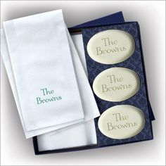 Soap and Guest Towel Set - Oval Soaps - Block Name