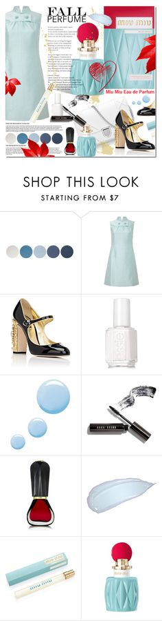 """Fall Fragrance"" by elena-777s ❤ liked on Polyvore featuring beauty, NYX, Dolce&Gabbana, Essie, Topshop, Bobbi Brown Cosmetics, Oribe, Miu Miu, springsummer2015 and fallperfume"