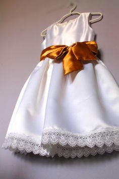 Flower Girl dress sash and a bow sizes T2 18 by HiddenRoom on Etsy, $60.00