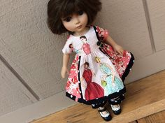 Doll clothes, 1950's retro print....2 piece, Betsy McCall, Tonner, oak by judysdollboutique on Etsy