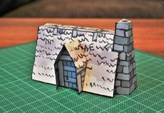 The Hag Hovel (Bright), a papercraft set piece for D&D / Dungeons & Dragons, Pathfinder, Warhammer and other table top RPGs. Tags: cabin, hag, halloween, house, hut, marsh, papercraft, spooky, swamp, witch