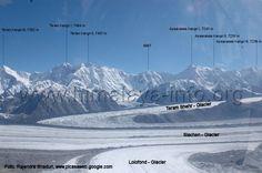 Teram Kangri Peaks I, II, III & Apsarasas Peaks I, II, III with Siachen Glaciers, Karakorum Range Kashmir India, Climbers, Mount Everest, Mountains, Nature, Travel, Naturaleza, Viajes, Destinations