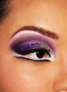 I have so many different purple eye shadows - I need more ideas what to do with it.
