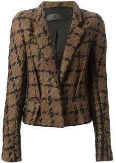 Haider Ackermann checked jacquard fitted blazer