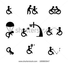 Paralympic athlete or sports for disabled - stock vector
