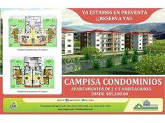 Apartamentos San Pedro Sula | venta | Campisa Condominios : 2 habitaciones, 85 m2, USD 85000.00