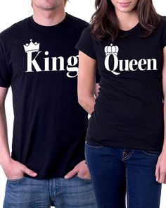 King/ Queen Couple Shirts by Graphicator on Etsy