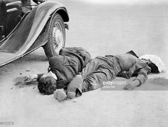 Spanish Civil War Dead on the street after the street fightings - 1936 - Vintage property of ullstein bild