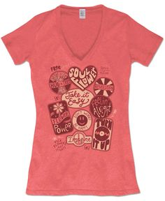 Soul Flower Patches Recycled T-Shirt: Soul Flower Clothing