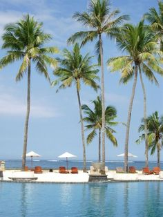 hotel pool in Nusa Dua Bali