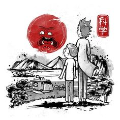 Rick and Morty T-Shirt by Noemi Fadda aka NemiMakeit. Show everyone that you are a fan of Rick and Morty with this t-shirt. Arte Hippy, Jagodibuja Comics, Rick And Morty Poster, Red Sun, Cartoon Crossovers, Adult Cartoons, Fan Art, Geek Art, Anime