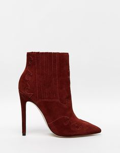 Image 2 of ASOS ECLECTIC Suede Western Pointed Ankle Boots