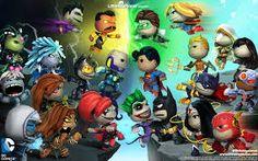November , Little Big Planet Desktop Wallpapers LittleBigPlanet Wallpapers Wallpapers) Comic Movies, Comic Book Characters, Comic Books, Character Modeling, Game Character, Dc Comic Costumes, Little Big Planet, Baby Superhero, Fantasy Pictures