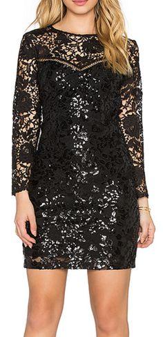 Gorgeous black sequin mini dress