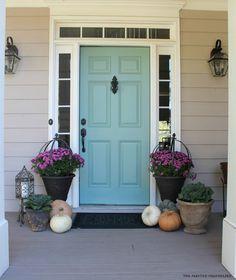 Behr paint blue door