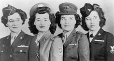 Left to right: Sisters Ellen, Evelyn, Dorothy, and Florence Gahm, all served during WWII.Ellen(24),was a private first class in the WAC, at the Cushing General Hospital(Framingham,Mass) Closer to home,Evelyn(18) attended the University of Colorado,then received training at Colorado General Hospital as a cadet nurse.Dorothy(23)had been a teacher in Sterling before joining the MCWR at Cherry Point, N.C.Florence(21)was an aviation machinist's mate, second class in the WAVES~