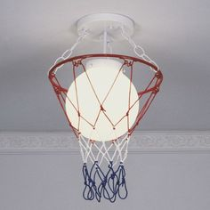 Great lighting idea for basketball room