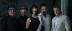 Miss Emily flanked by, from left to right, Gord Sinclair, Ben Vandergaast, Rob Baker and Rob Radford Greed, Music Videos, Writer, Portraits, Artist, Photography, Musicians, Photograph, Fotografie