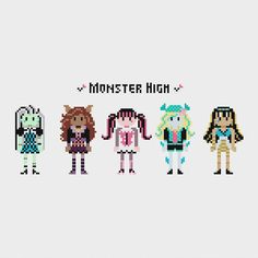 Monster High Cross Stitch Pattern PDF Instant por pixelsinstitches