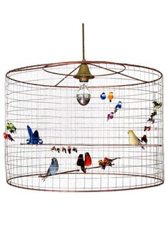 Wire bird cage lighting kids rooms tinylittlepads bird cage lamp sweet httpchallieres wire lampshadelampshadesnice keyboard keysfo Images