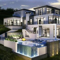 it's just a story of a normal teenager until she meets a boy TONY LOP… #romance #Romance #amreading #books #wattpad Luxury House Plans, Luxury Homes Dream Houses, Dream Homes, Dream Home Design, Modern House Design, Villa Design, Design Hotel, Restaurant Design, Design Exterior