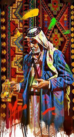 Arabian coffee seller by ALI NEMAH