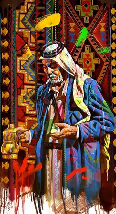 Arabian coffee seller by ALI NEMAH