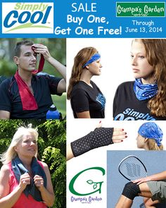 Buy One Get One Free! Stay Cool with our Simply Cool line of products! Through June 13, 2014, buy one Simply Cool item, get another of the same product for free! Extra cooling for you and a friend or loved one! Simply Cool: http://www.grampasgarden.com/simply-cool.html