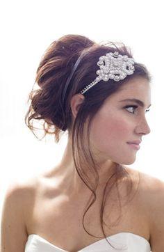 Seascape Goddess: Cara pearl & crystal head wrap at Nordstrom