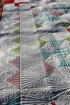 Green Fairy Quilts - Judi Madsen Crossroads - upclose and personal. Judi Madsen