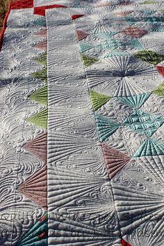Green Fairy Quilts - Judi Madsen Crossroads - upclose and personal. Judi Madsen
