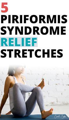 Piriformis Syndrome Symptoms, Piriformis Exercises, Piriformis Muscle, Hip Pain Relief, Sciatica Relief, Sciatica Pain, Lower Back Pain Stretches, Back Exercises, Hip Stretches