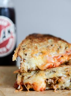 Spicy Mini Meatball Grilled Cheese | howsweeteats.com