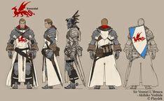 "adalheidis: ""Sir Vesniel L'Brasca from Unsung Story. Character Creation, Fantasy Character Design, Game Character, Character Concept, Armadura Medieval, 3d Fantasy, Fantasy Armor, Medieval Armor, Medieval Fantasy"