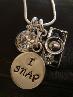 Camera Charm Pendant  Stamped silver metal by BeBeBlingBoutique, $22.50
